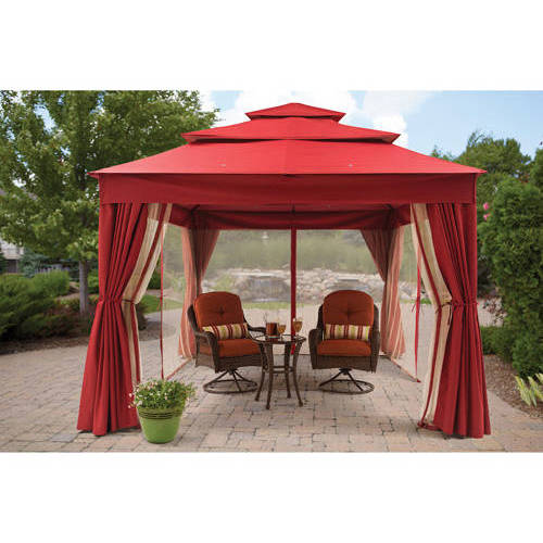 Better Homes & Gardens Archer Ridge 3-tier 10 x 12 Gazebo with Netting & Sun Panel, Multiple Colors