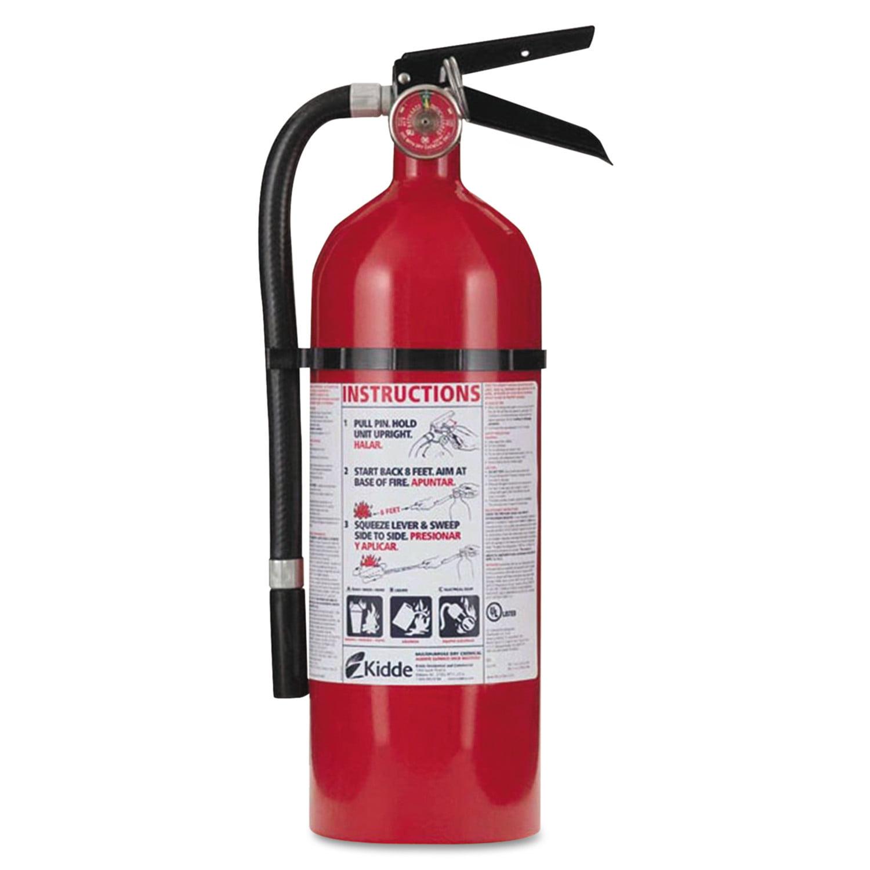 Kidde Pro 210 Fire Extinguisher, 4lb, 2-A, 10-B:C by KIDDE