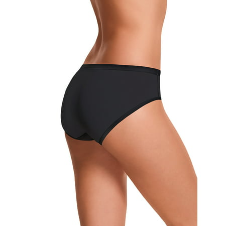 Womens Comfortsoft Waistband Stretch Cotton Hipster Panties 3 Pack