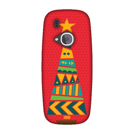 Nokia 3310 Case - Christmas Cheer 2, Hard Plastic Back Cover. Slim Profile Cute Printed Designer Snap on Case with Screen Cleaning Kit