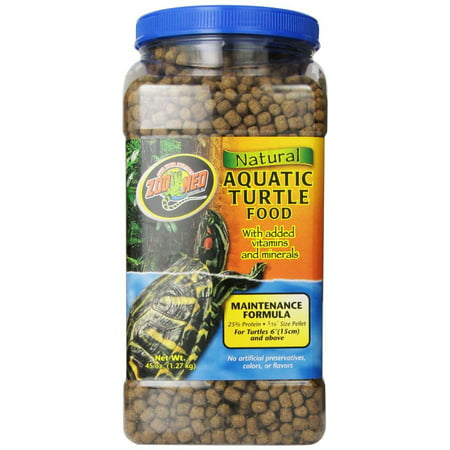 Zoo Med Natural Aquatic Turtle Food - Maintenance Formula 45 oz