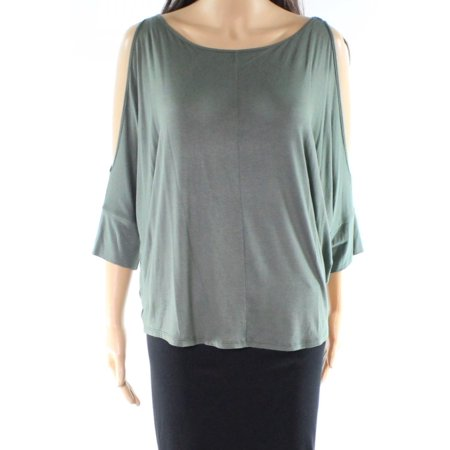 c0b2e91f081d3b Michael Stars - Michael Stars NEW Olive Green Women Size Medium M Cold  Shoulder Knit Top - Walmart.com