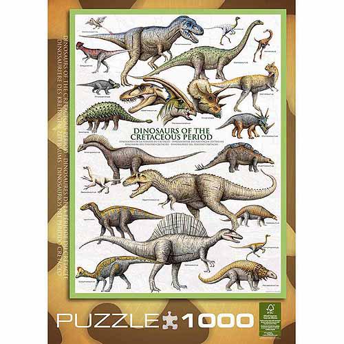 EuroGraphics Dinosaurs Cretaceous 1000-Piece Puzzle by Generic