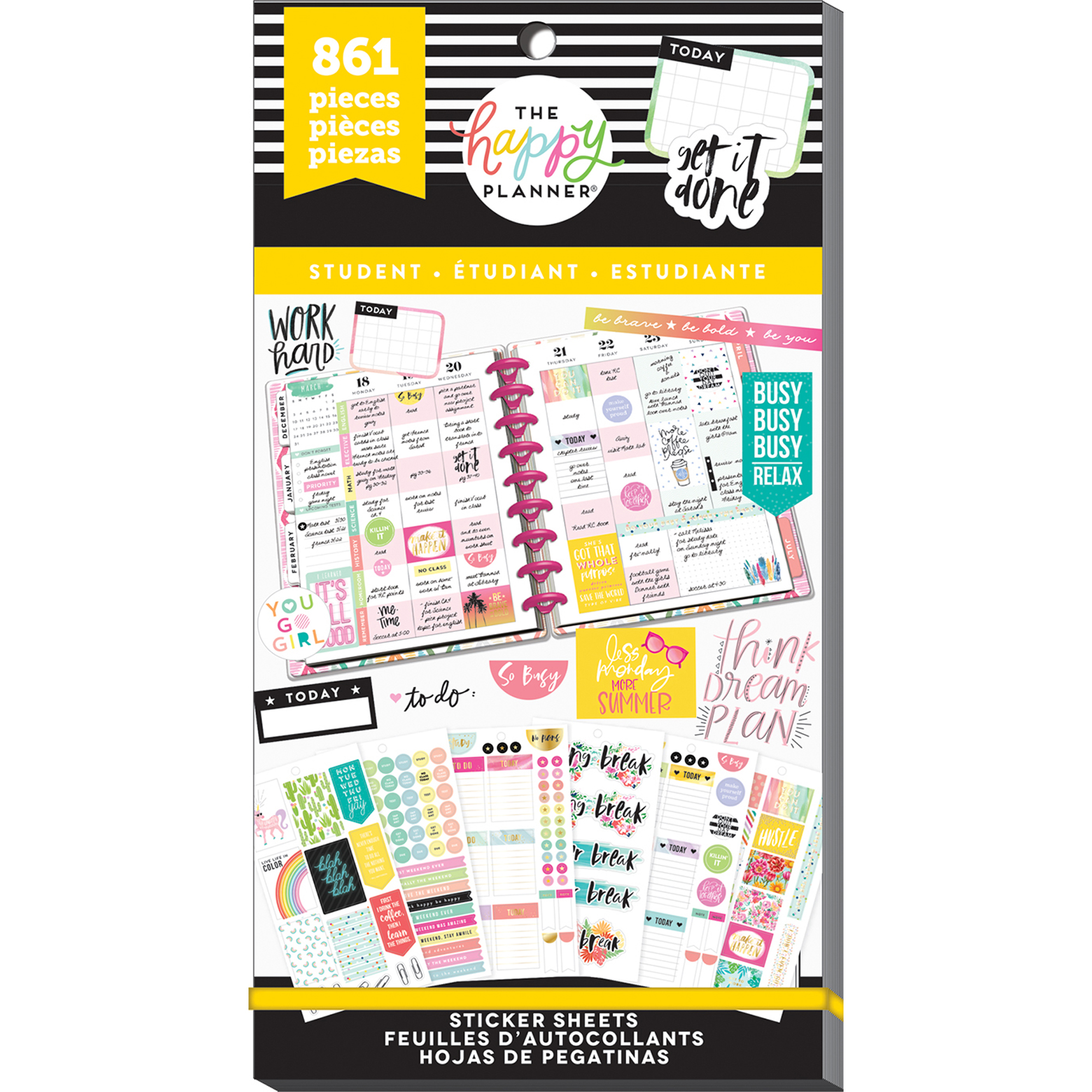 The Happy Planner® Value Pack Stickers - Student