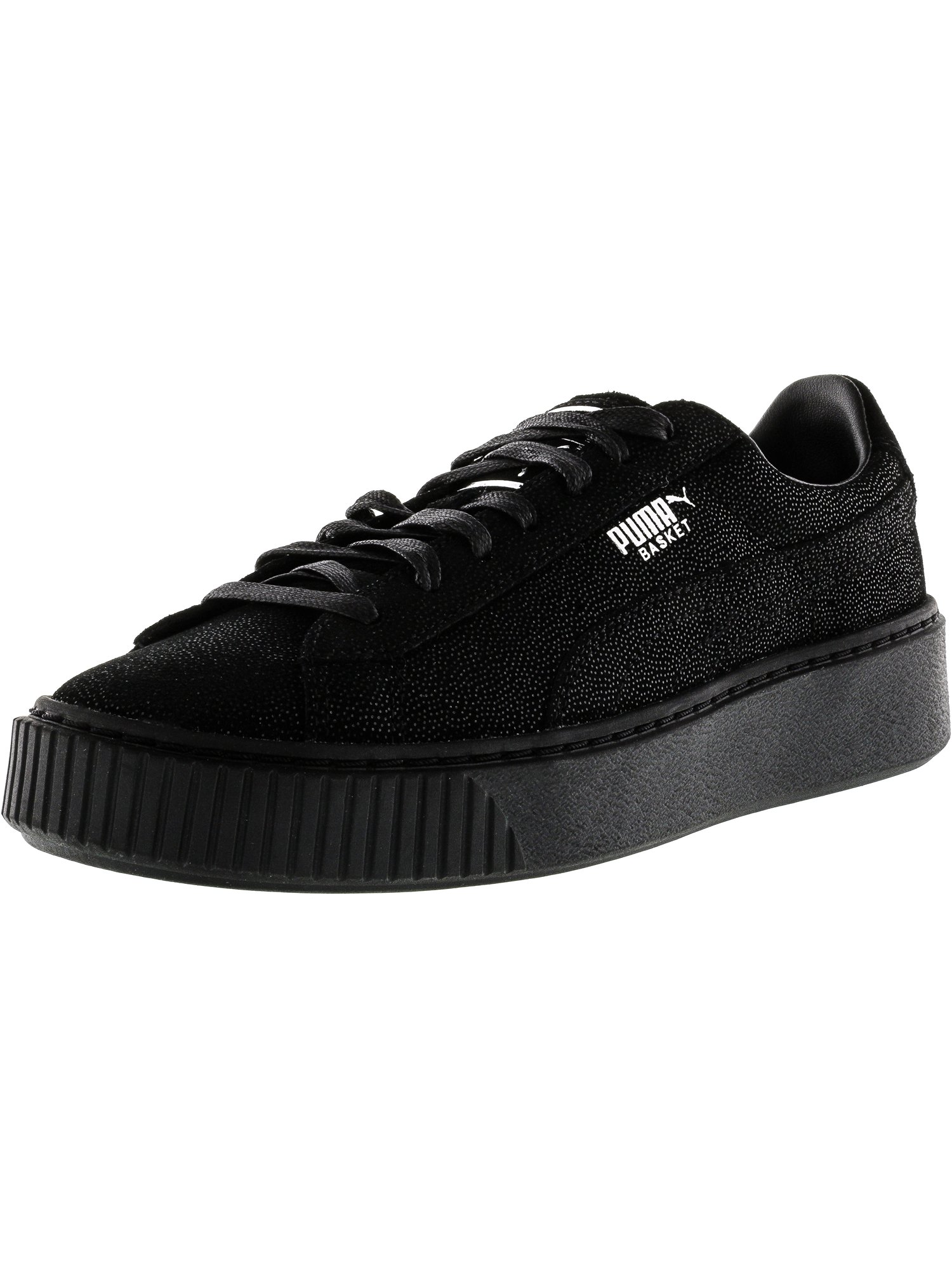 88338de46dcc Puma Women s Basket Platform Reset Black   Ankle-High Fashion Sneaker - 9.5M