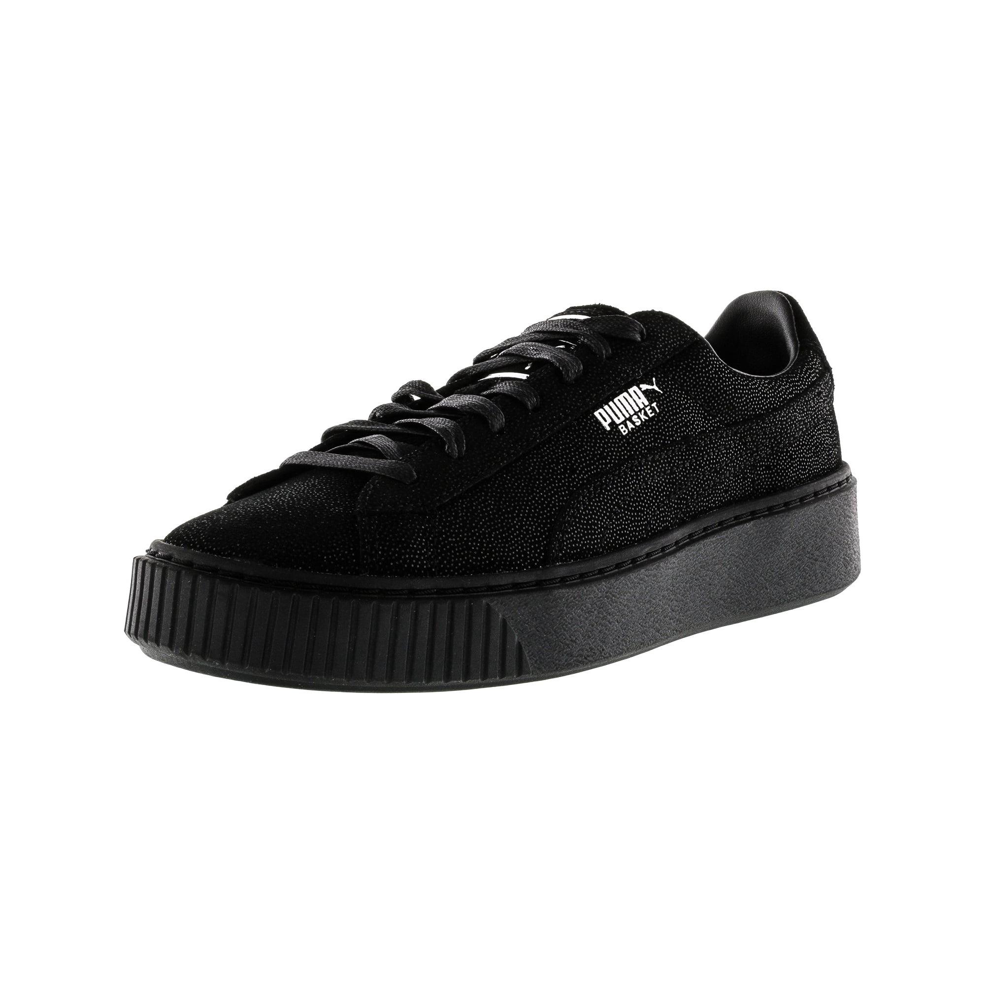 a1532ac637b4 Puma Women s Basket Platform Reset Black   Ankle-High Fashion Sneaker - 8M