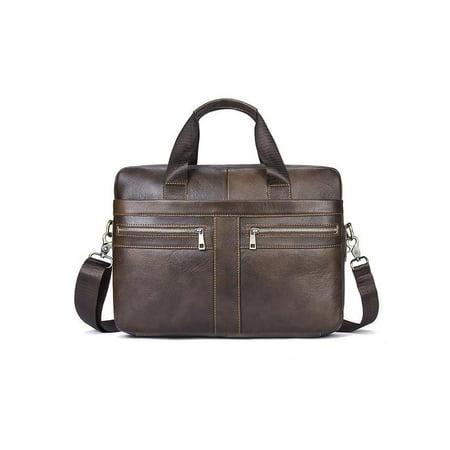 2ea93278d5 Meigar Men Vintage Genuine Leather Handbag Business Briefcase Messenger  Shoulder Bag - Walmart.com