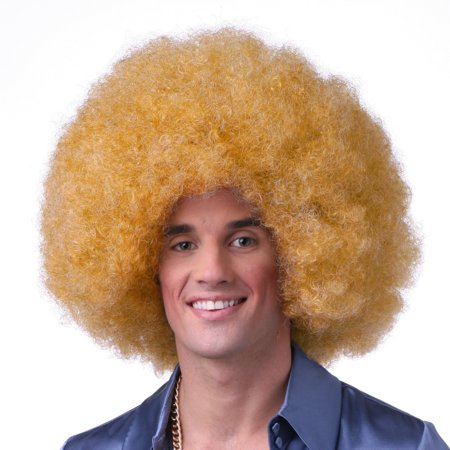 Sepia Costume Color Afro Synthetic Wig Golden Blonde