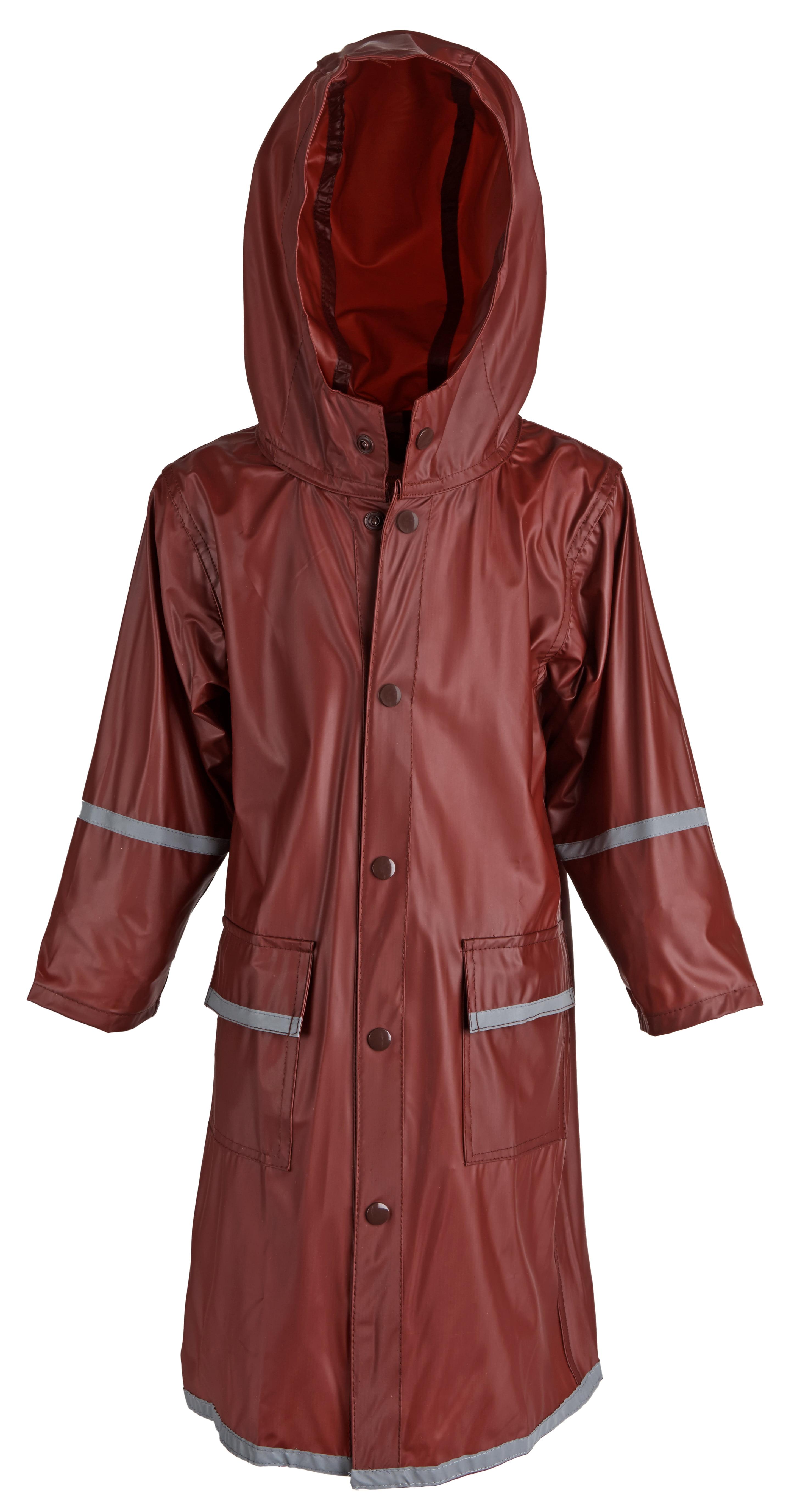 404c61e6625f WearWide - Girls Kids Waterproof Full Length Long Hooded Raincoat ...