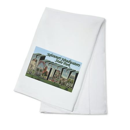 Missouri Headwaters Park  Montana   Large Letter Scenes  100  Cotton Kitchen Towel