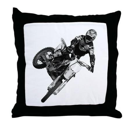 CafePress - Dirt Bike High Flying - Decor Throw Pillow (Bike Throw Pillow)