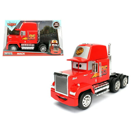 Disney / Pixar Movie Cars (Disney Pixar Mack Trailer \Cars\ Movie 1:24 Just Trucks Rigs Diecast Model by Jada)