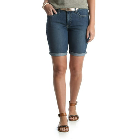 Riders by Lee Women's Belted Bermuda (Cut Off Bermuda Shorts)