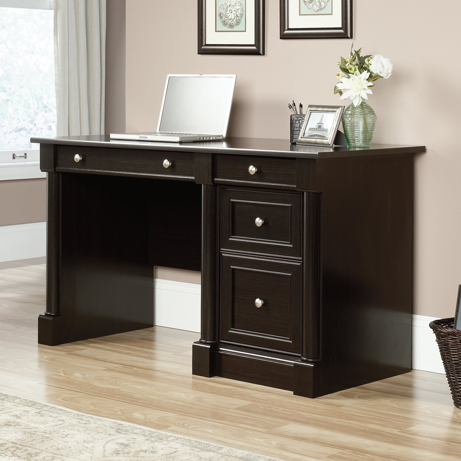 Sauder Avenue Eight Computer Desk Wind Oak by Sauder