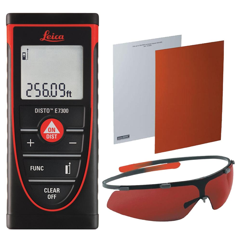 Leica DISTO E7300 Laser Distance Meter With GZM26 Targer Plate & GLB30 Glasses
