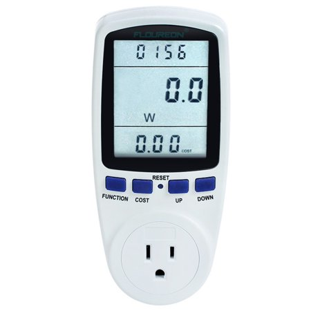Floureon Energy Monitor Power Meter Electricity Watt Voltage Volt Power Factor US