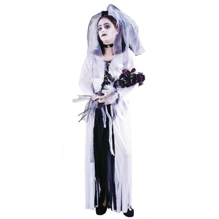Skeleton Bride Girl Kids Halloween Costume - Evil Bride Halloween Costume