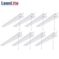 LEONLITE 8 Pack 40W 4ft Linkable LED Utility Shop Lights, Double-Tube T8 LED, 4000lm 120W Equivalent for Garage, Workbench, Basement, Warehouse, 5000K Daylight