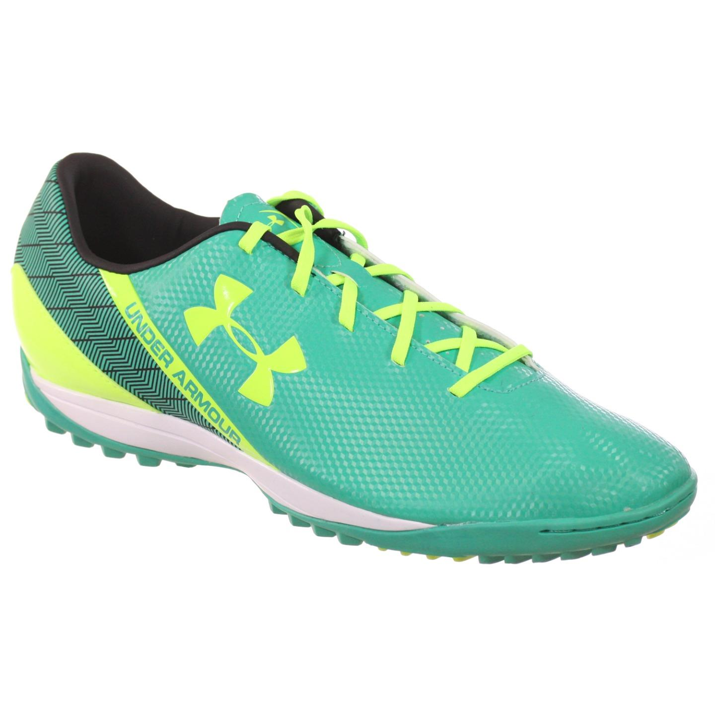 UNDER ARMOUR MENS SOCCER SHOES SF FLASH TR EMERALD NEON YELLOW BLACK 13 M