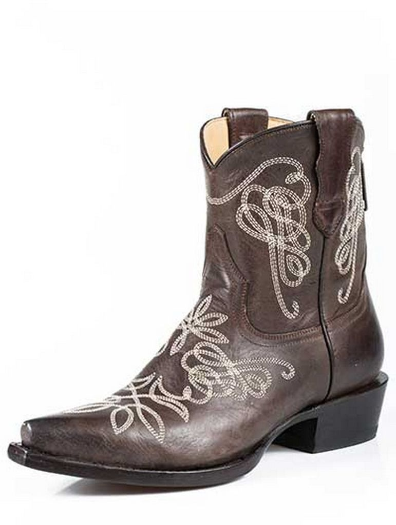 Stetson Western Boots Womens Burnished Brown 12-021-5105-1042 BR