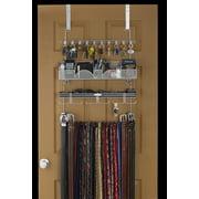 LONGSTEM ® Organizers #9100 Tie Belt Rack Valet Accessory Closet Organizer in Silver