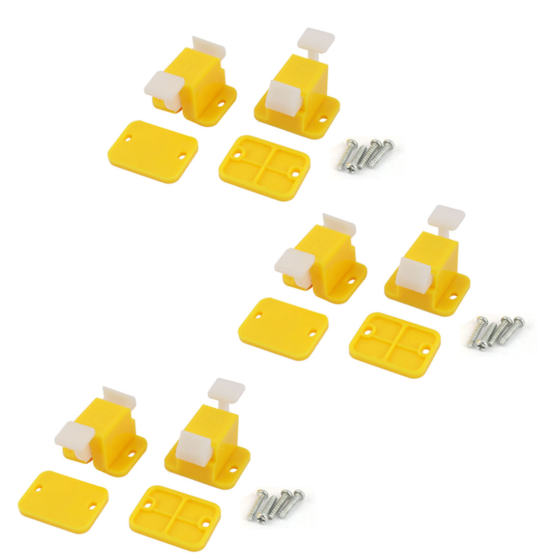 Unique Bargains 6 Pieces Plastic Prototype Test Fixture Jig Yellow White for PCB Board