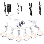 Best Puck Lights - AIBOO Linkable Under Cabinet LED Lighting 12V Dimmable Review