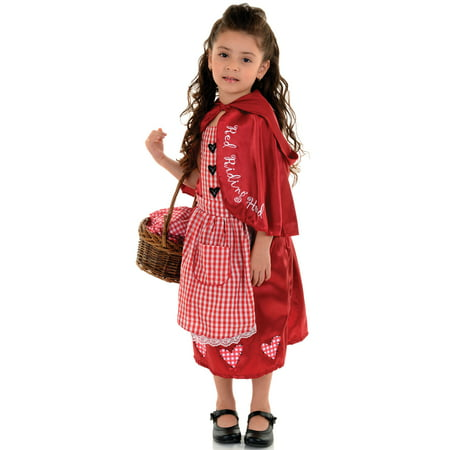 Little Red Riding Hood Toddler Girls Fairy Tale Halloween Costume