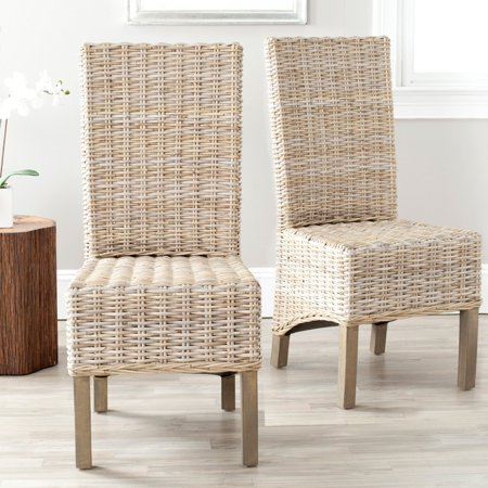 Safavieh Pembrooke Wicker Dining Side Chairs - Unfinished - Set of 2 (Fabric Unfinished Chair)