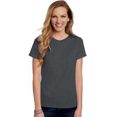 Ladies Crewneck Jersey T-shirt (Medium Womens Relaxed Fit Jersey ComfortSoft Crewneck T-Shirt, Charcoal Heather)
