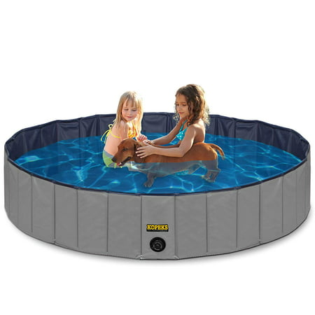 Outdoor Swimming Pool Bathing Tub - Portable Foldable - Ideal for Pets - XL 63