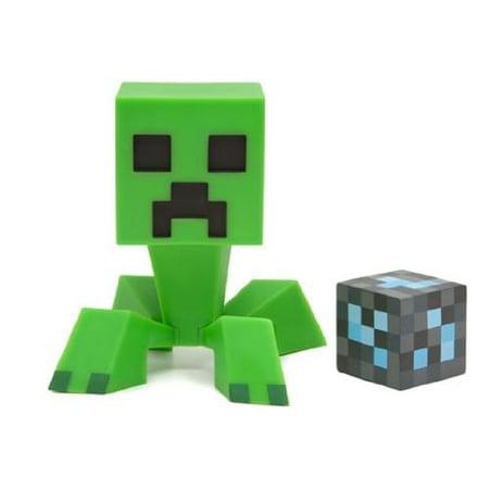 Action Blocks (Minecraft Creeper Vinyl Action Figure with Diamond)