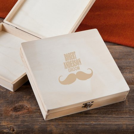 Personalized Monogrammed Wooden Keepsake or Cigar Box