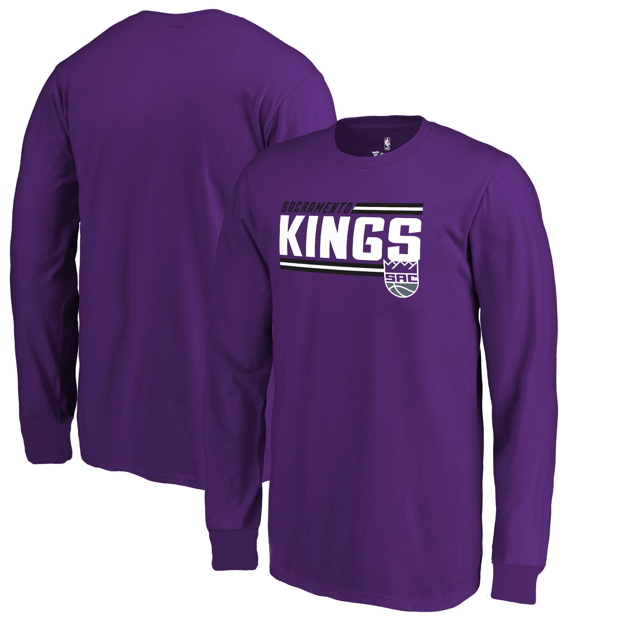 Sacramento Kings Fanatics Branded Youth Onside Stripe Long Sleeve T-Shirt - Purple