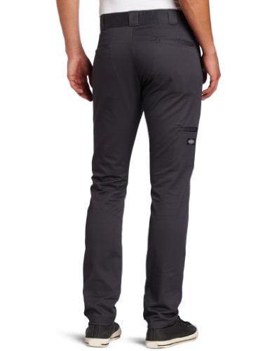 Dickies Mens Charcoal FLEX Skinny Straight Fit Work Pants WP801CH