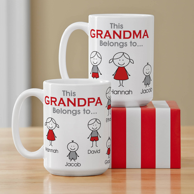 Personalized Family Belonging Coffee Mug, 15 oz