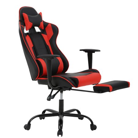 Gaming Chair High-back Office Computer Chair Ergonomic Design Racing Chair With Footrest (Gaming Computer Chair)