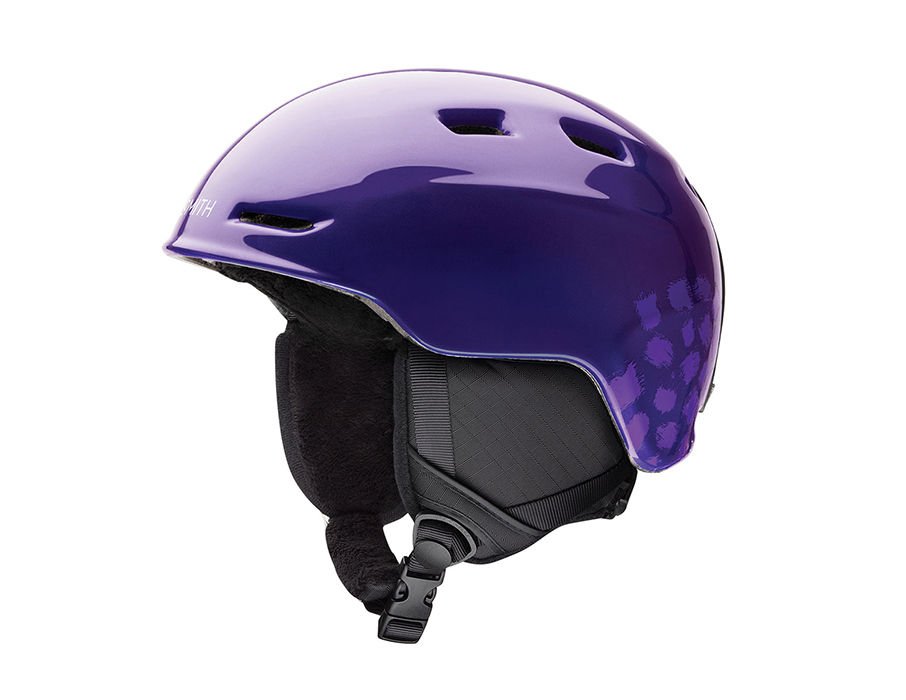 Smith Optics Zoom Jr Ski Snow Helmet (Ultraviolet Brush Dots Youth Small) by Smith Optics