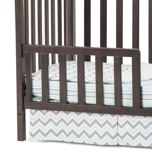 Child Craft Ashton and Bradford Mini Crib Toddler Guardrail, Slate
