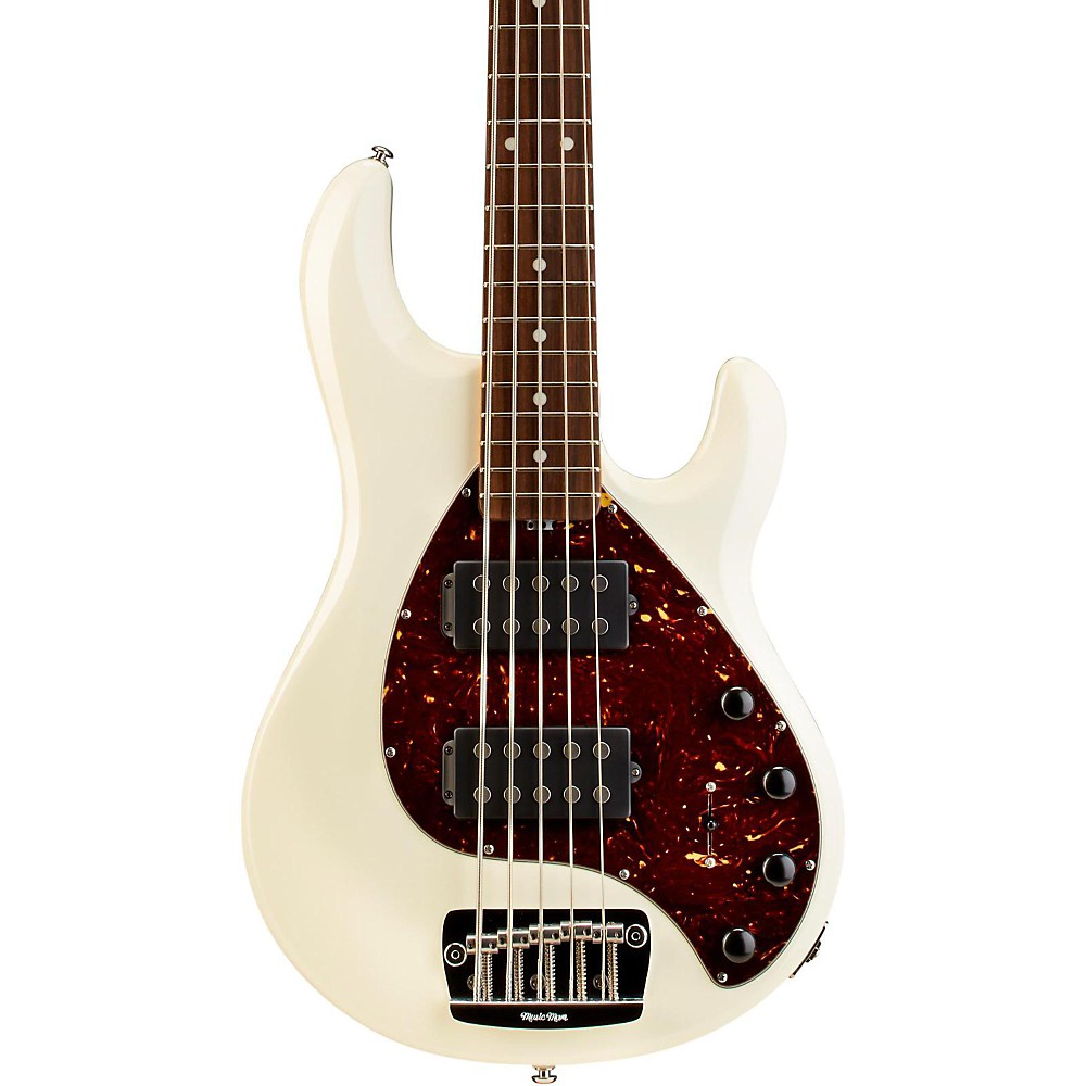 Ernie Ball Music Man Stingray 5 HH 5-String Electric Bass White Rosewood Fretboard