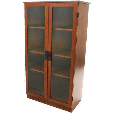 - Heirloom Storage Cabinet with 4 Shelves, Multiple Finishes