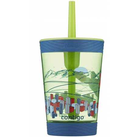 Contigo Kids Spill-Proof Tumbler with Straw, 14 oz., Granny Smith