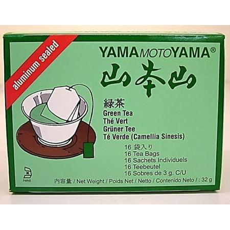 Yamamotoyama Sacs de thé vert, 16 count