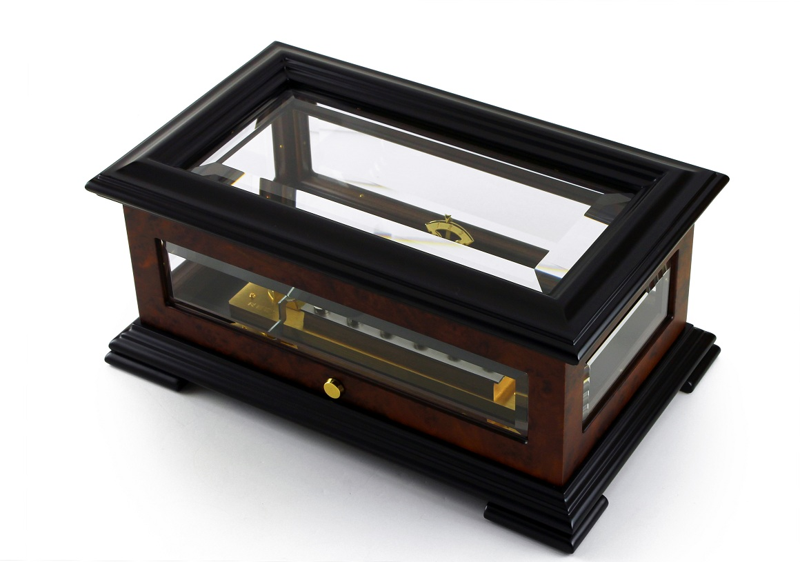 Handcrafted 50 Note Sankyo Beveled Glass Music Box by MusicBoxAttic
