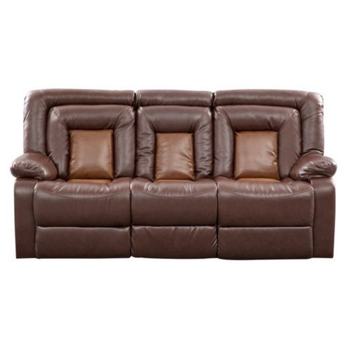 Roundhill Furniture Kmax Leather Reclining Sofa