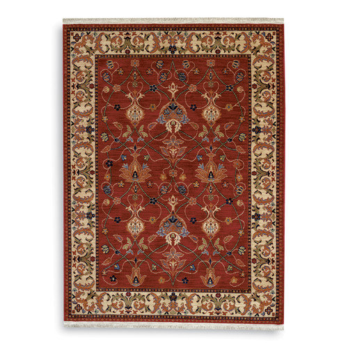 "Karastan English Manor 2120-00510 William Morris Red 7'8"" Round Rug by Karastan"