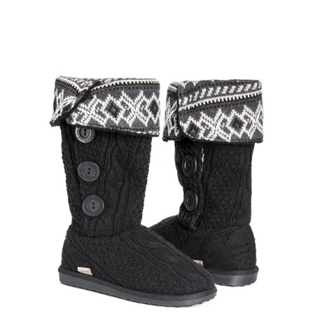 MUK LUKS Women's Knit Bootie Slipper