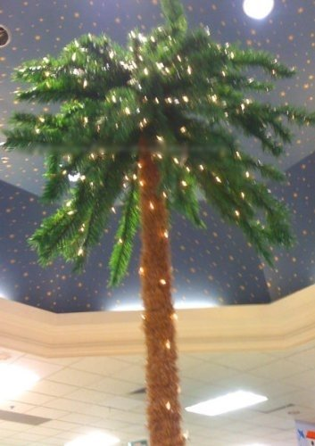 7 Foot Lighted Christmas Holiday Palm Tree 300 Lights JIMMY BUFFET 7' XMAS by Nantucket