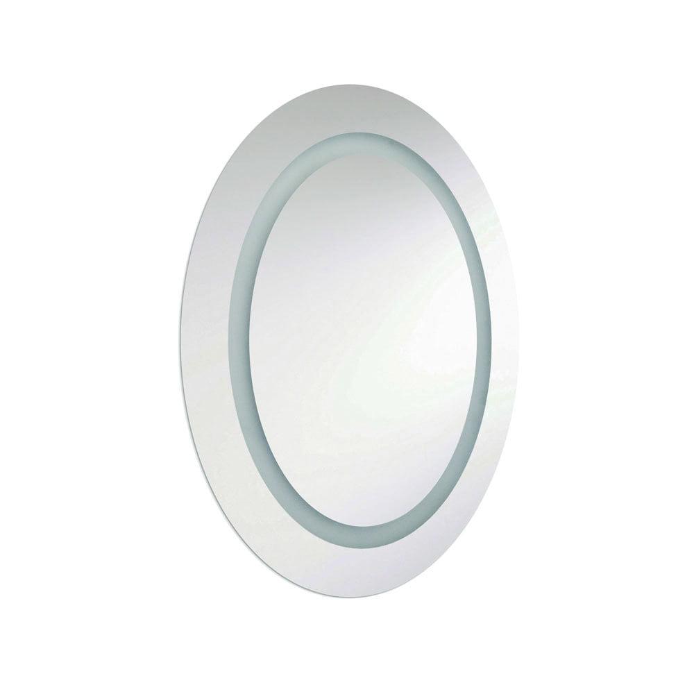 Dainolite 28W Oval Mirror, Inside Illuminated 28x23 Inch Silver by Dainolite Ltd
