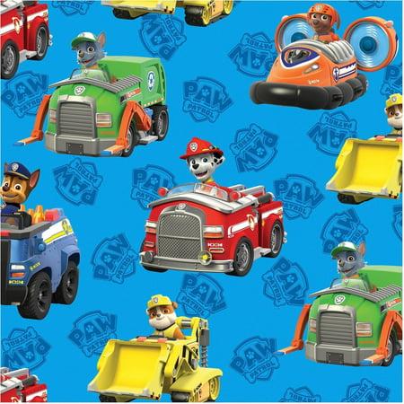 David Textiles Paw Patrol Rescue Cars 44
